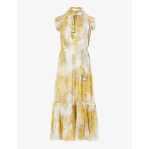 0 ZIMMERMANN Wild Botanica belted ruffled floral-print silk-crepon midi dress 0